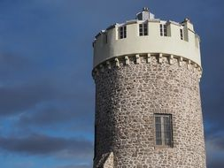 tower of Clifton Observatory at sky, uk, england