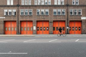 fire brigade doors gates red