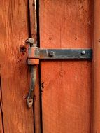 wooden locked door
