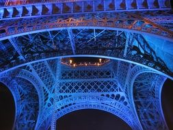 Blue Eiffel Tower in Paris