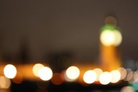 city lights at night, bokeh, uk, england, london