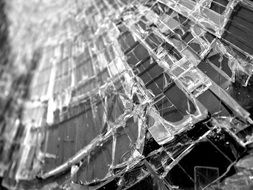 broken glass close up