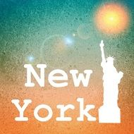 background for New York city