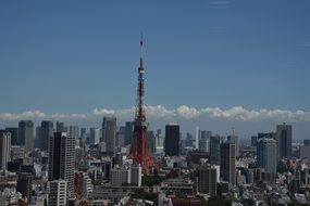 tokyo tower japan city view
