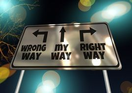 sign of choosing the right way