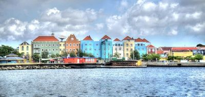multicolored houses willemstad curacao caribbean