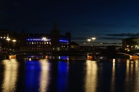 night town at water, sweden, stockholm