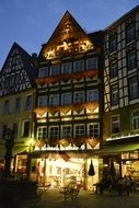 Lighted cochem homes truss old town
