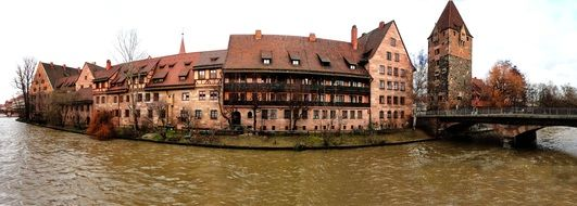 panorama of the old town in nuremberg