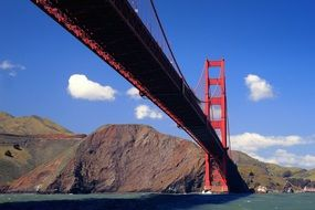 beautiful view san francisco golden gate bridge