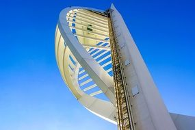 portsmouth spinakker tower beautiful blue sky view