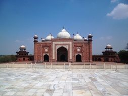 ancient fort of Taj Mahal, india, agra