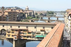 city bridges, italy, florence