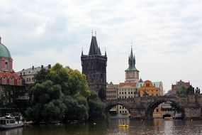 old dark charles bridge prague czech republic