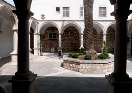 little courtyard of a church