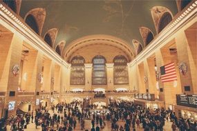 people in Grand Central Terminal station house, Main Concourse, usa, new york city