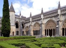 Monastery of Saint Mary of the Victory at park, portugal, batalha