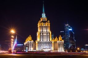 hotel moscow seven sisters night lights