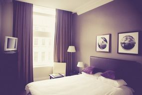 bedroom in gray street hotel, uk, england, newcastle upon tyne