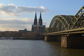 cologne panorama hohenzollern bridge