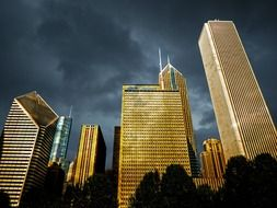 chicago downtown dawn thunderstorm