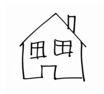 drawing home building simply