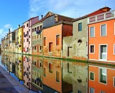 chioggia italy old houses channel