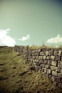 hadrian's wall, ancient roman defensive fortification, uk, england