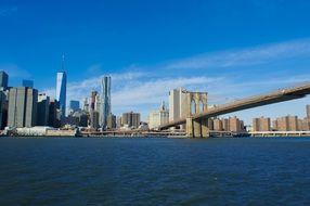 famous brooklyn bridge manhattan downtown