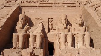 abu simbel rock temple massive