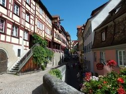picturesque old town view, germany, meersburg