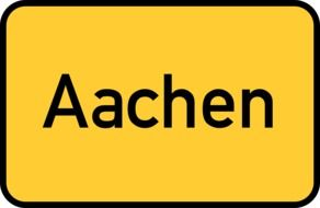 aachen, yellow traffic sign