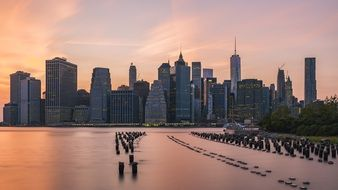 new york city skyline waterfront