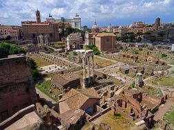 antique roman forum in rome