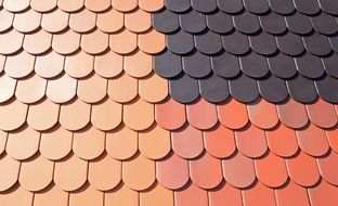 structure pattern colored roof