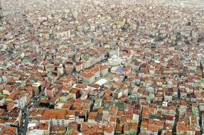 aerial view of old city, Turkey, istanbul