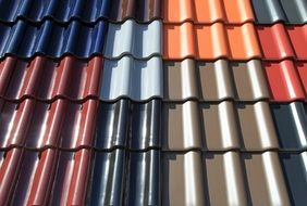 colorful roofing tiles