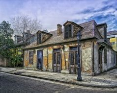 lafitte's blacksmith shop building, usa, louisiana, new orleans