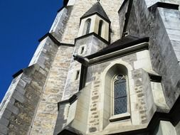 part of st florin church facade, principality of liechtenstein