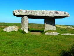 Giant's Quoit, Neolithic period dolmen, uk, cornwall