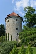 castle tower C3 BCberlingen green garden