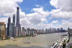 panorama of huangpu river shanghai