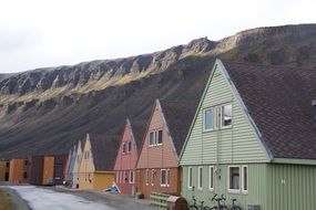 colorful houses in norway