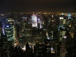 night cityscape in new york
