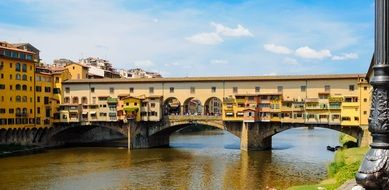 ponte vecchio, ancient roman bridge across arno river, italy, florence