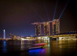 Marina Bay Sands is an integrated resort fronting Marina Bay in Singapore