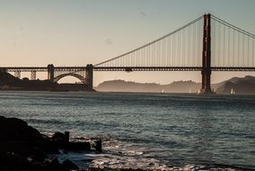 Golden Gate Bridge in San Francisco with sunset views
