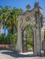 vizcaya miami florida entrance tropic trees