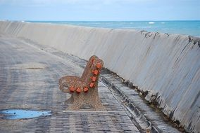 bench at ocean, south africa, cape town