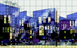 Abstract city lines